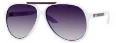Gucci 1627 Sunglasses - 0VK6 White / JJ Gray Shaded Lens