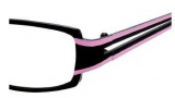 Juicy Couture Behave Eyeglasses Eyeglasses - 0JQB Black / Pink Striped
