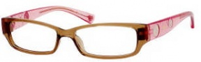 Juicy Couture Little Drama Eyeglasses Eyeglasses - 0DJ3 Brown Pink Fade 