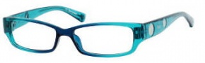 Juicy Couture Little Drama Eyeglasses Eyeglasses - 0DN1 Navy Teal 
