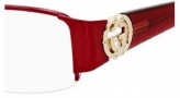 Gucci 2844 Eyeglasses Eyeglasses - 0NAF Shiny Red Burgundy
