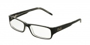 D&G DD1145 Eyeglasses Eyeglasses - 675 Black Top on Clear
