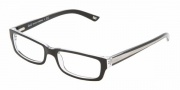 DG DD 1167 Eyeglasses Eyeglasses - 675 Black Top on Clear *Ships same day*