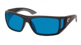 Costa Del Mar Bomba Sunglasses Black Frame Sunglasses - Blue Mirror Glass / Costa 580