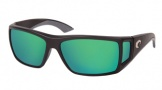 Costa Del Mar Bomba Sunglasses Black Frame Sunglasses - Green Mirror Glass / Costa 580