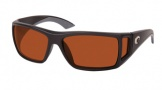 Costa Del Mar Bomba Sunglasses Black Frame Sunglasses - Copper / 580P
