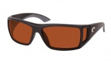 Costa Del Mar Bomba Sunglasses Black Frame Sunglasses - Copper Glass / Costa 580