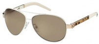 Roberto Cavalli RC499S Sunglasses Sunglasses - O33J Ivory Gold Leopard (Discontinued Color NLA)