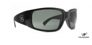 Von Zipper Papa G Polarized Sunglasses Sunglasses - Black Gloss / Grey Poly Polar. (BPP)