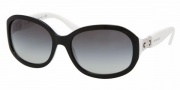 Bvlgari BV8064 Sunglasses Sunglasses - 50058G Top Black on White / Gray Gradient