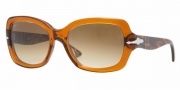 Persol PO2949S Sunglasses Sunglasses - 887/51 Dark Honey Crystal Brown / Gradient