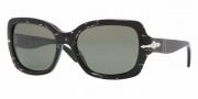 Persol PO2949S Sunglasses Sunglasses - 889/31 Black Gauze / Crystal Green