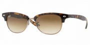 Ray-Ban RB4132 Sunglasses Catty Clubmaster Sunglasses - 710/51 Light Havana / Crystal Brown Gradient