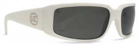 Von Zipper Sham Polarized Sunglasses Sunglasses - White Gloss / Grey Poly Polarized (WPP)