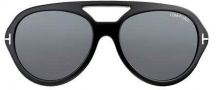 Tom Ford FT0141 Henri Sunglasses Sunglasses - O01A Shiny Black / Smoked Lens