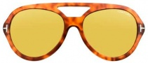Tom Ford FT0141 Henri Sunglasses Sunglasses - O53E Shiny Light Havana