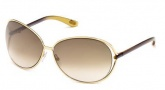 Tom Ford FT0158 Clemence Sunglasses Sunglasses - O28F Shiny Rose Gold