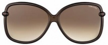 Tom Ford FT0165 Callae Sunglasses Sunglasses - O48F Dark Brown
