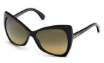 Tom Ford FT0175 Nico Sunglasses Sunglasses - O01P Shiny Black