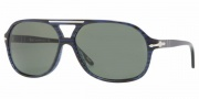 Persol PO2958S Sunglasses Sunglasses - 95/58 Black / Crystal Green Polarized