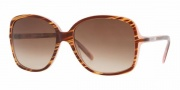 DKNY DY4058 Sunglasses Sunglasses - (342613) Striped Brown-Pink / Brown Gradient