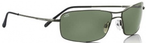 Serengeti Firenze Sunglasses Sunglasses - 7112 Satin Dark Gunmetal-Shiny Gunmetal / Polarized 555nm