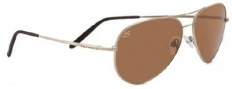 Serengeti Medium Aviator Sunglasses Sunglasses - 7270 Shiny Silver / Polarized Drivers