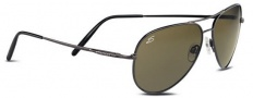 Serengeti Medium Aviator Sunglasses Sunglasses - 7269 Shiny Gold / Drivers