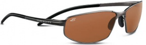 Serengeti Granada Sunglasses Sunglasses - 7303 Shiny Dark Gunmetal / Polarized Drivers