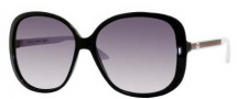 Gucci 3157/S Sunglasses  Sunglasses - 0OVF Black White (JJ gray shaded lens)
