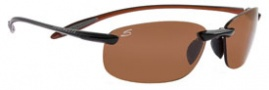 Serengeti Nuvola Sunglasses Sunglasses - 7357 Shiny Black-Orange / Polar PhD Drivers