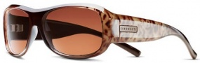 Serengeti Savona Sunglasses Sunglasses - 7066 Brown Tan Leopard Fade / Polarized Drivers