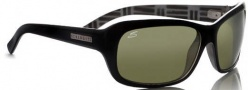 Serengeti Vittoria Sunglasses Sunglasses - 7177 Shiny Black-Black Mosiac / Polarized 555nm
