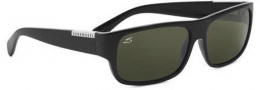 Serengeti Monte Sunglasses Sunglasses - 7231 Shiny Black-Laser Etched / Drivers