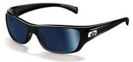 Bolle Crown Sunglasses Sunglasses - 11325 Shiny Black / Polarized Offshore Blue