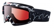 Bolle Nova Goggles Sunglasses - 20678 Black Graffiti Modulator Vermillon