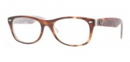 Ray-Ban RX 5184 New Wayfarer Eyeglasses Eyeglasses - 5093 Light Havana On Ice