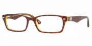 Ray-Ban RX5206 Eyeglasses Eyeglasses - 2443 Havana-Blue-Yellow