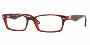 Ray-Ban RX5206 Eyeglasses Eyeglasses - 2444 Havana-Red