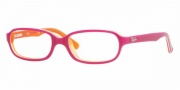 Ray-Ban Junior RY1524 Eyeglasses Eyeglasses - 3565 Top Fuxia on TR. Orange