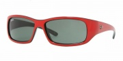 Ray-Ban Junior RJ9046S Sunglasses Sunglasses - 162/71 Top Red on Black / Green