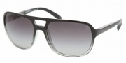 Prada PR 25MS Sunglasses Sunglasses - ZXA3M1 Black Gradient Gray / Gray Gradient