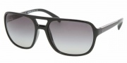 Prada PR 25MS Sunglasses Sunglasses - 1AB3M1 Gloss Black / Gray Gradient
