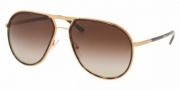 Prada PR 56MS Sunglasses Sunglasses - 7OE6S1 Brass / Brown Gradient
