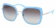 Prada PR 59MS Sunglasses Sunglasses - 1BC3M1 Silver-Baby Blue / Gray Gradient