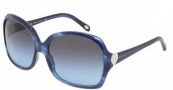Tiffany & Co. TF4041 Sunglasses Sunglasses - 81104L Striped Blue / Blue Gradient Gray