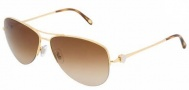 Tiffany & Co. TF3021 Sunglasses Sunglasses - 60023B Gold / Brown Gradient