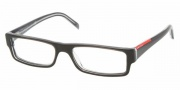 Prada PS 01AV Eyeglasses Eyeglasses - ZXX1O1 Black-Transparent Gray
