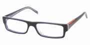 Prada PS 01AV Eyeglasses Eyeglasses - ZXZ1O1 Blue-Azure Transparent