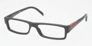 Prada PS 01AV Eyeglasses Eyeglasses - ZX01O1 Morish-Transparent Morish
